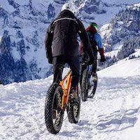 bicicletas en la nieve